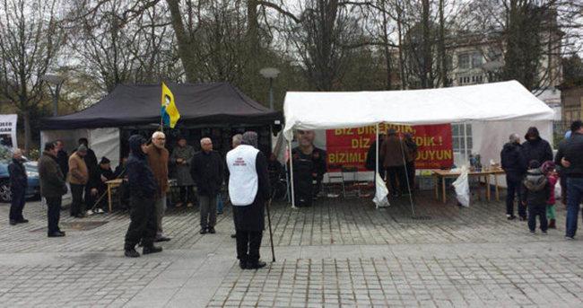 Brüksel'de terör örgütü PKK'nın çadırı kaldırıldı