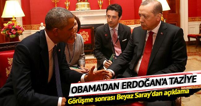 Obama Erdoğan'a taziyelerini iletti