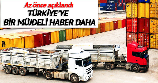Türkiye'ye bir müjdeli haber daha