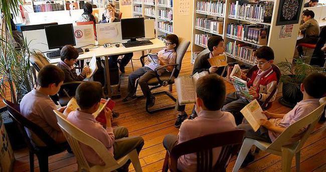 Çocuklara okumayı sevdiren kütüphane
