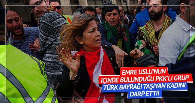 Erdoğan'ı destekleyen kadına fiziki saldırı