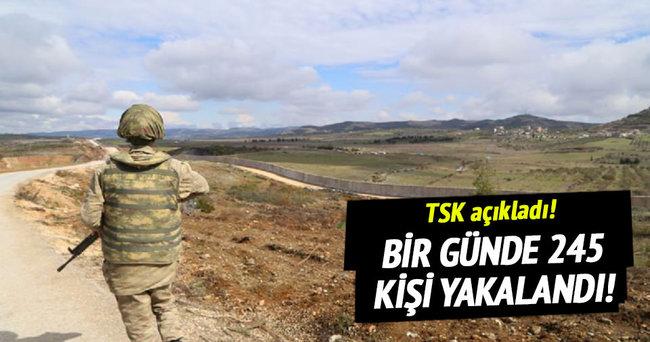 TSK bir günde 245 kişiyi yakaladı