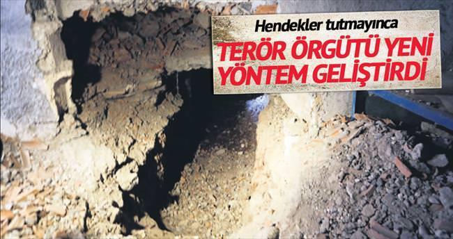 Hendekler tutmadı şimdi tünel terörü