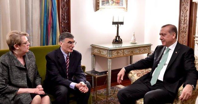 Cumhurbaşkanı Erdoğan, Aziz Sancar'la görüştü
