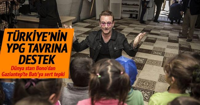 Bono'dan Türkiye'ye destek Batı'ya tepki