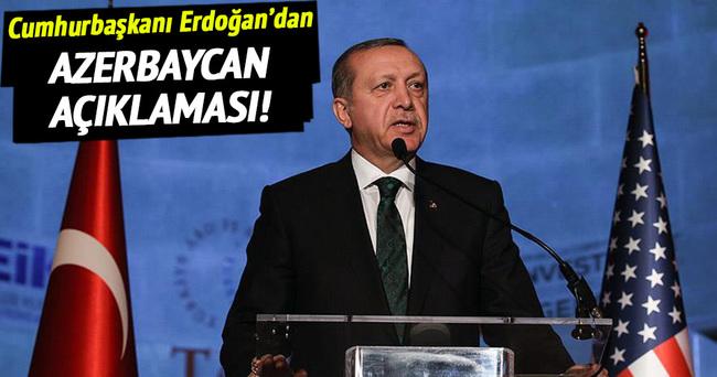 Erdoğan'dan Azerbaycan açıklaması!
