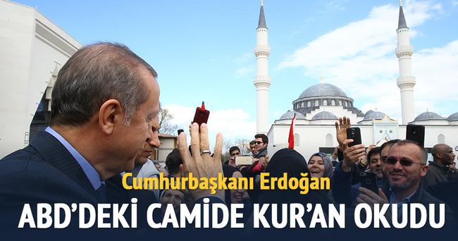 Erdoğan, ABD'de Kur'an okudu