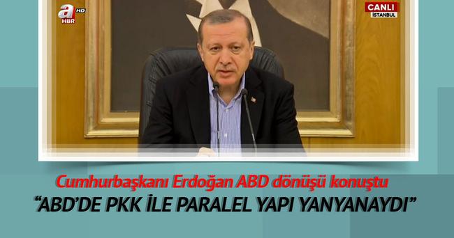 Cumhurbaşkanı Erdoğan ABD dönüşü açıklamalarda bulundu!