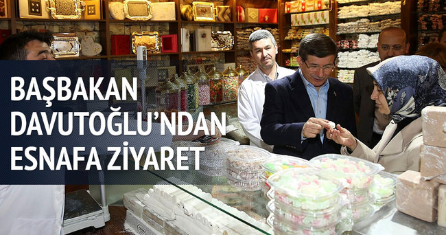 Başbakan Davutoğlu'ndan altındağ esnafına ziyaret