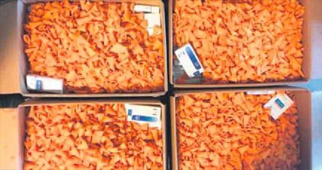 Cips kutularında sigara kaçakçılığı