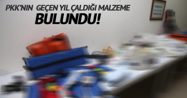 PKK'lıların çaldığı tıbbi malzeme bulundu!
