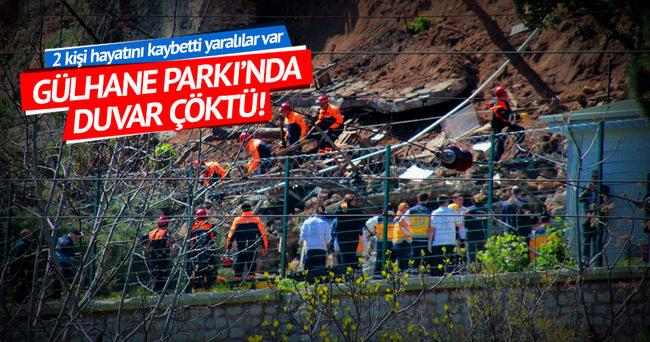Gülhane Parkı'nda duvar çöktü: 2 vatandaş hayatını kaybetti