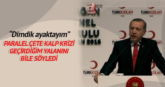 Cumhurbaşkanı Erdoğan: Dimdik ayaktayım!