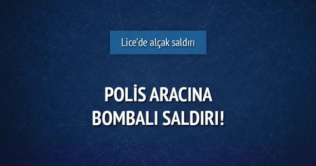 Lice'de polis aracına bombalı saldırı
