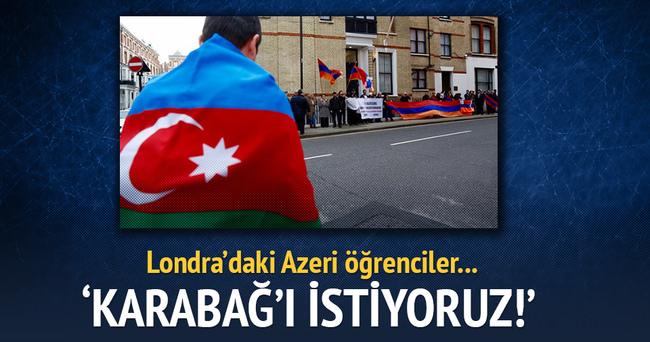 Londra'da Azerbaycan'a destek