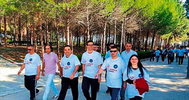 Kanser Haftası'nda farkındalık yürüyüşü