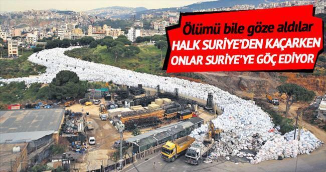 Lübnan'da bir kentin halkı çöp kokusundan Suriye'ye göç ediyor