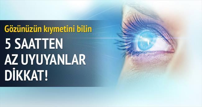 Gözleri tehlikeye atan 5 alışkanlık