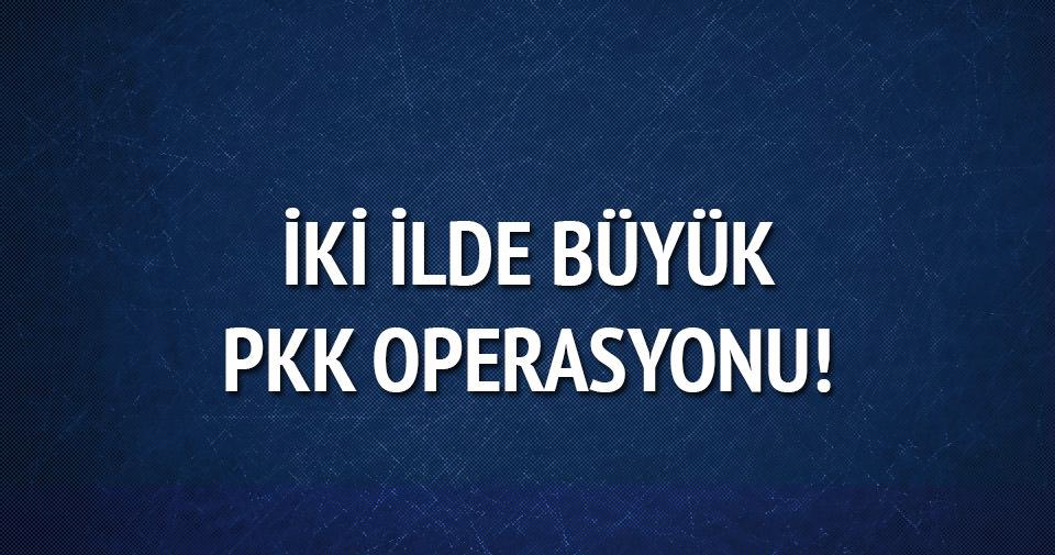 İki ilde gerçekleşen operasyonda 17 PKK'lı gözaltına alındı!