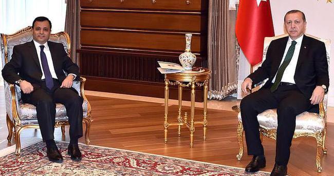 Cumhurbaşkanı Erdoğan AYM Başkanı Arslan'ı kabul etti