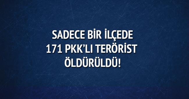 Nusaybin'de 171 PKK'lı etkisiz hale getirildi