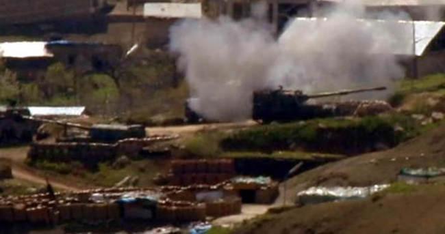 Irak'taki PKK hedefleri top atışıyla vuruldu