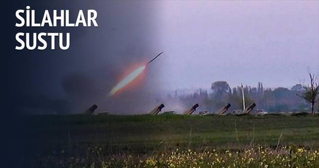 Yukarı Karabağ'da silahlar sustu