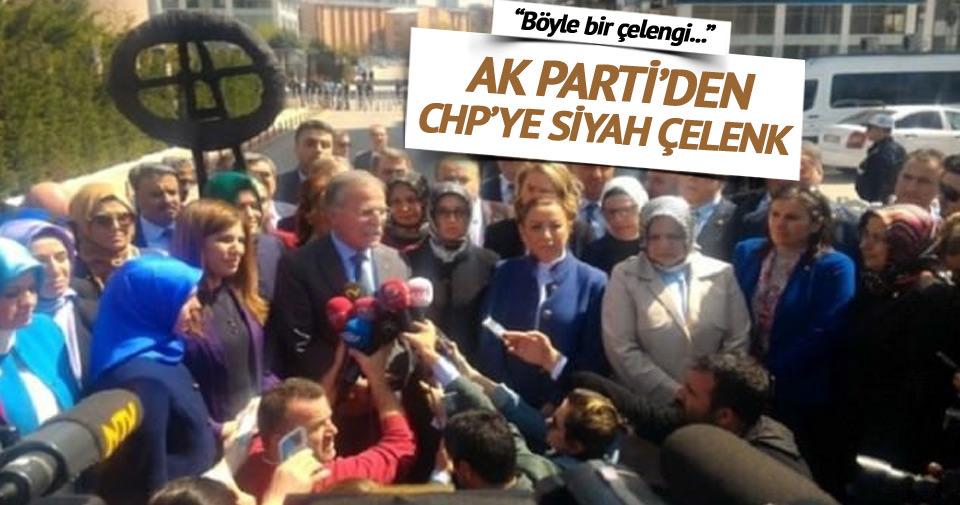 AK Parti'den CHP'ye siyah çelenk