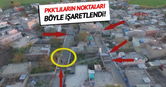 PKK'lıların noktaları İHA tarafından görüntülendi