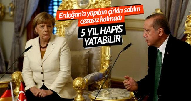 Erdoğan'a yapılan çirkin hakaret cezasız kalmadı