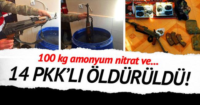Dün 3 ilde 14 PKK'lı öldürüldü!