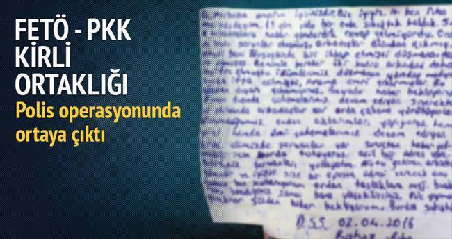 PKK'nın kuryesi FETÖ/PDY'nin evinden çıktı
