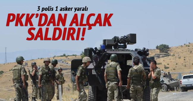 PKK'dan alçak saldırı: 3 polis 1 asker yaralı