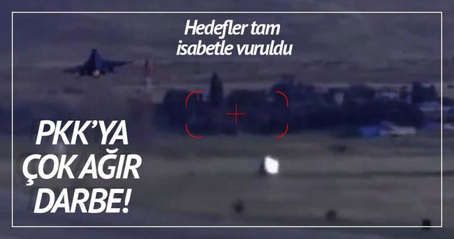 Kuzey Irak'taki PKK hedefleri vuruldu