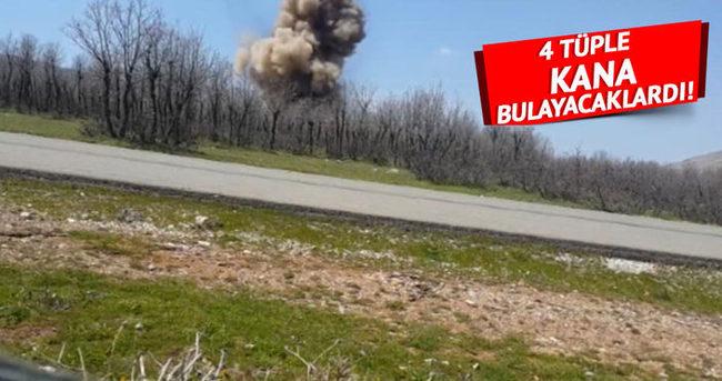 Yol kenarına tuzaklanan bomba düzeneği infilak ettirildi