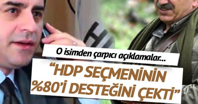 HDP'ye destek verenlerin %80'i desteğini çekti