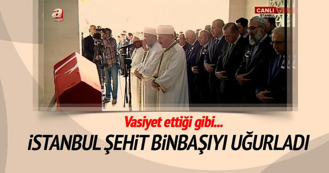 İstanbul şehit binbaşıyı uğurladı