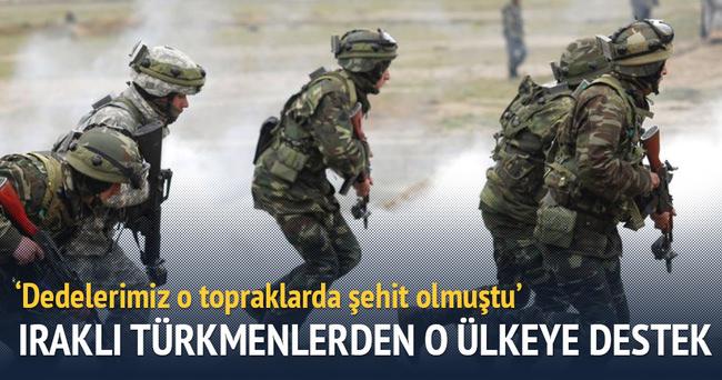 Iraklı Türkmenlerden Azerbaycan'a destek