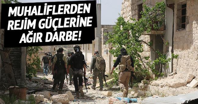 Muhaliflerden rejim güçlerine büyük darbe!