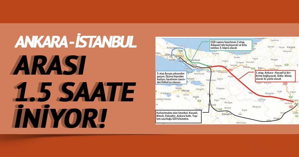 Ankara-İstanbul arası 1.5 saat