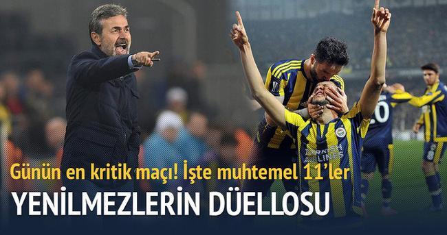 İşte Konyaspor - Fenerbahçe maçı muhtemel 11'leri