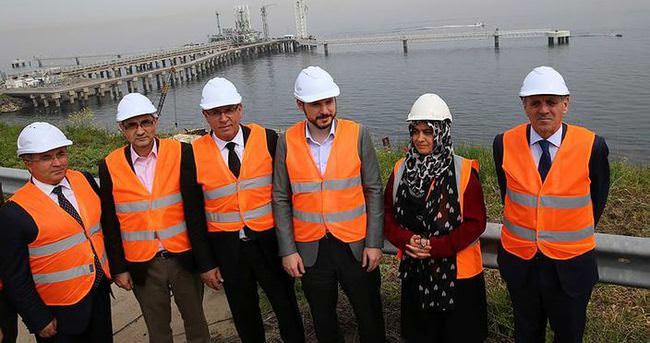 Bakan Albayrak, TPAO'nun doğalgaz depolama tesisini ziyaret etti