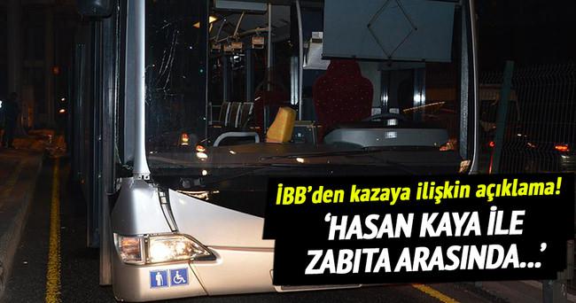 İBB: Hasan Kaya ile zabıta arasında kovalamaca yaşanmamıştır