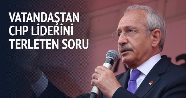 Vatandaştan CHP liderini terleten soru