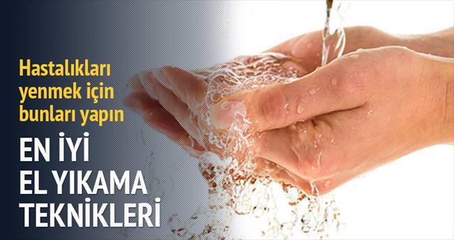 6 adımda 'en iyi el yıkama' tekniği