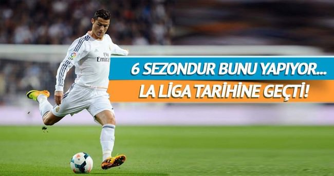 Cristiano Ronaldo La Liga tarihine geçti