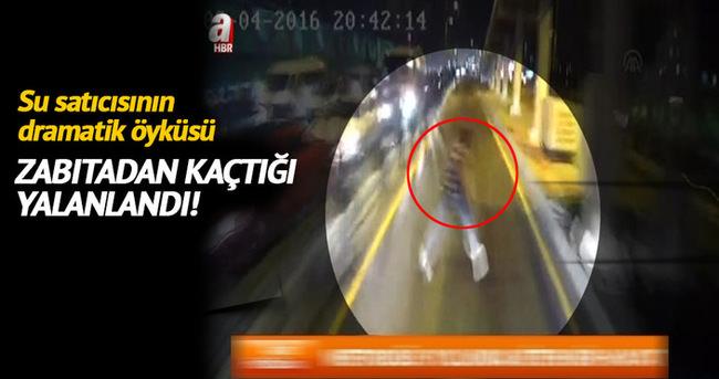 İBB metrobüsün sucuya çarptığı anın görüntülerini paylaştı