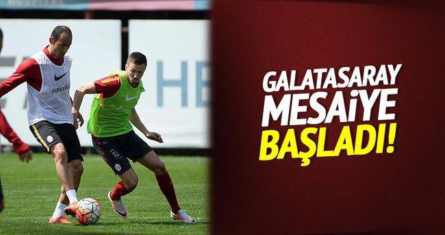 Galatasaray mesaiye başladı