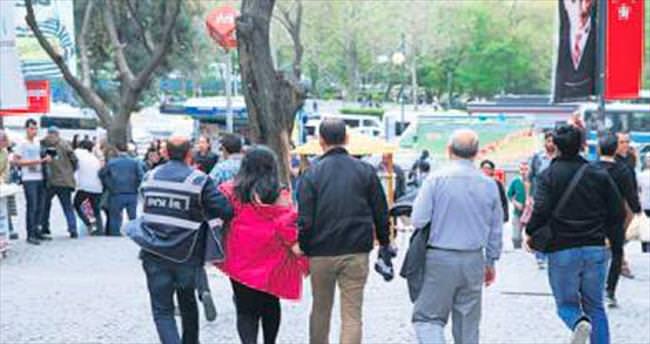 Başkentte izinsiz gösteriye müdahale