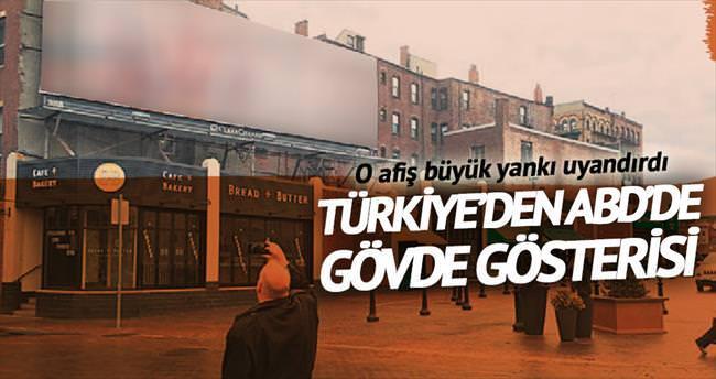 Türklerin afişi Boston'u ayağa kaldırdı